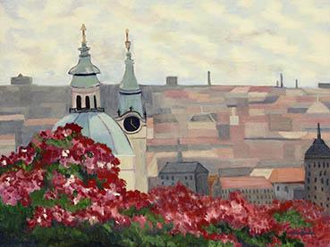 A Budapest Evening, Judy Heimlich, 21x27 Oil $775