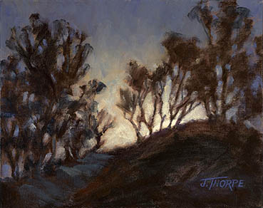 Clearing The Ridge, Jane Thorpe, 8x10 Oil $600