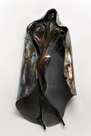 Dark Man, Ruth Petersen Shorer, 11x17x4 Raku $900