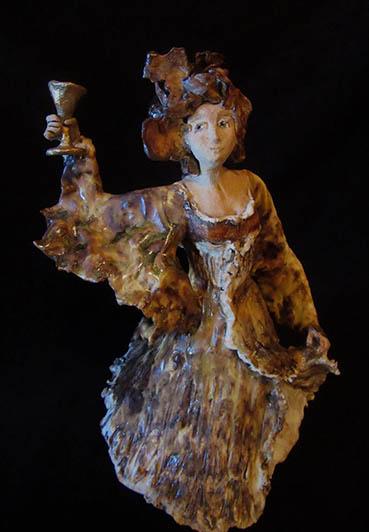 Festive Spirits, Traci Gunn, 8x10x8 Clay $550