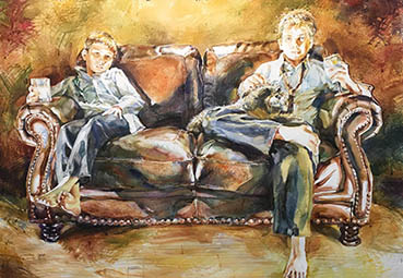 Goodfellas, Gregory Radionov, 30x40 Watercolor $3,000