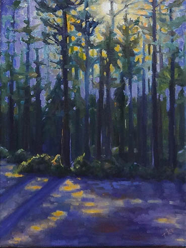 Into The Woods, Terry Romero Paul, 16x12 Oil $650