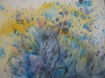 ISADORA'S GARDEN, Sylvia H Goulden, 19x22 Watercolor $500