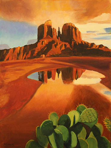 Monument Valley, Walter Hurlburt, 30x40 Oil $1,600