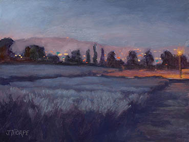 Moonlit Lavender Fields, Jane Thorpe, 12x16 Oil $1,050
