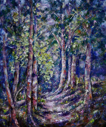 Moonlit Path, Jacquelyn Fox, 24x20 Oil $440