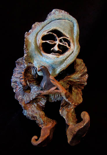 Night Creatures, Traci Gunn, 6x9x6 Clay Not for sale