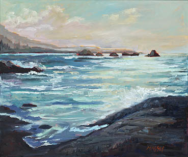 Pacific Horizons, Marie Massey, 24x24 Oil $2,200