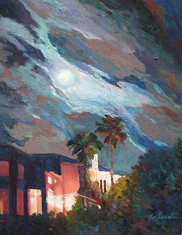 September Moonrise, Marian Fortunati, 18x14 Oil $1,020
