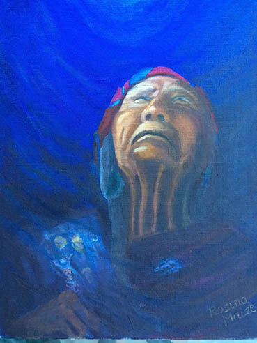 The High Priestess, Rosina Maize, 14x11 Oil $550
