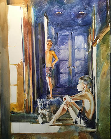 What's up?, Gregory Radionov, 40x30 Watercolor $3,000