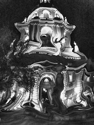 Who Spooked City Hall? Pasadena, CA, Karol Blumenthal, 8x10 Digital Art $175