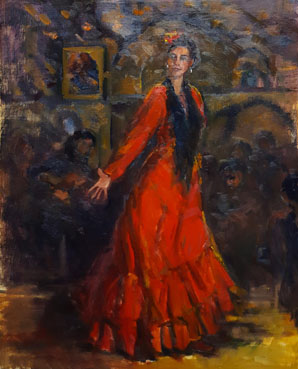 Gypsy Dancer, Anna T. Kelly, 20x16 Oil $980