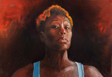 Warrior, Kathryn Donatelli, 14x20 Oil $1,200