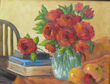A Gathering of Favorites, Patricia O'Hearn, 16x20 Oil $750
