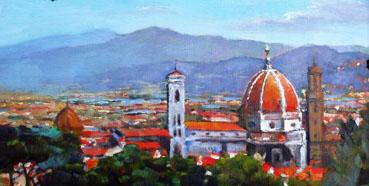Duomo in Firenze, Mason Mansung Kang, 6x12 Oil $700