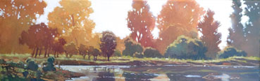Fall Sparkle, Lynne Fearman, 8x20 Oil $798