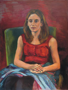 Kathryn in Red, Tricia Kaman, 24x18 Oil $1,800