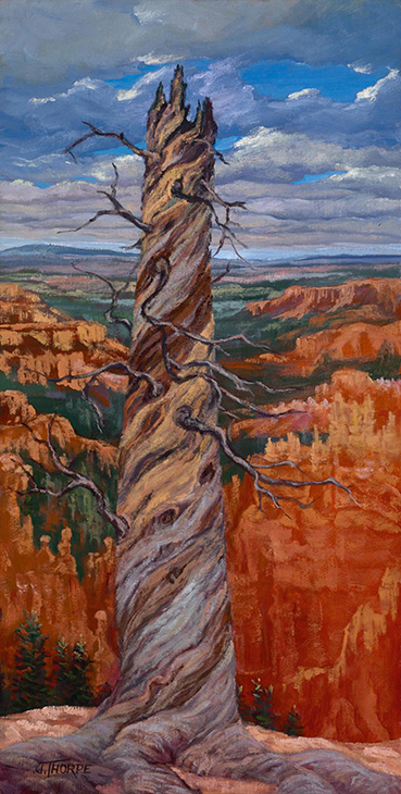 Layers, Ledges and Spirals, Jane Thorpe, 30x15 Oil NFS