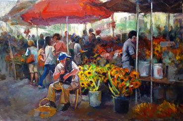 Pasadena Farmers' Market, Anna T. Kelly, 20x30 Oil $1,580