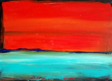 Red Sky at Night, Sailors Delight, Janet Weidel, 9x12 Acrylic $124