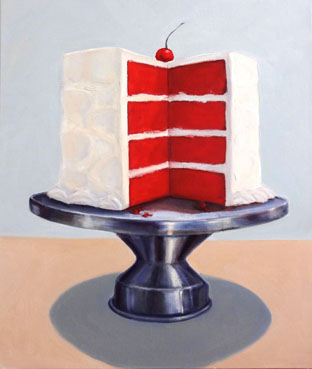 Red Velvet Layer Cake, Terry Romero Paul, 24x20 Oil $900