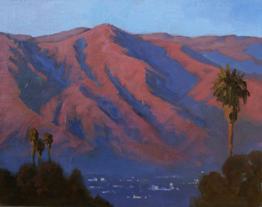 San Gabriel Last Light, Sharon Weaver, 11x14 Oil $950