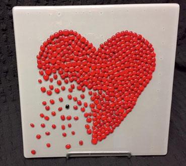 Unbreak My Heart, jackie steimke, 12x12x1 Glass $300