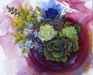 Change of View: Flowers from Above, Nora Koerber, 30x24  $2,000