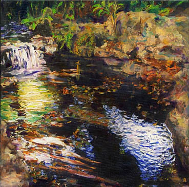 Ferndell Creek, Randy Sprout, 20x20 Acrylic $1,200