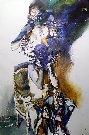 free will, Gregory Radionov, 40x30 Watercolor $2,000