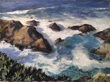 High Tide, David Aswad, 10x13 Oil $750