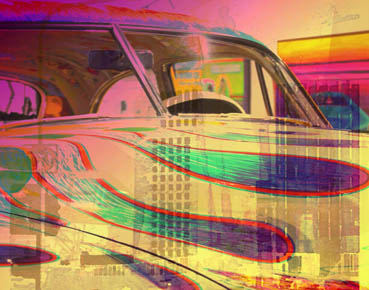 Low Rider, Karol Blumenthal, 11x14 Digital Collage $275