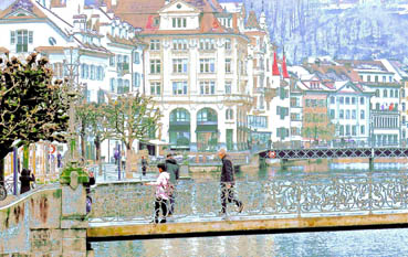 Lucerne, Switzerland fantasy, Ken Kochakji, 11x17 Photography $400
