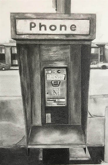 Obsolete and Forgotten in Northridge, Linda Jorda, 8x12 Graphite Pencil
