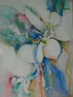 Petals and Pulse, Rea Nagel, 20x16 Watercolor $1,200