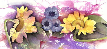 Spring Bloom, Judy Heimlich, 22x37 Watercolor & Ink $875