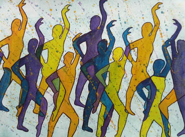 STAND TOGETHER, Sylvia H Goulden, 25x18 Watercolor $450