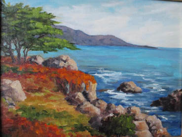 The Evolving California Coastline, Patricia O'Hearn, 11x14  $750